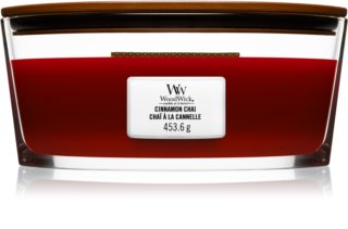 Woodwick Cinnamon Chai vela perfumada  453,6 g con mecha de madera (Hearthwick)