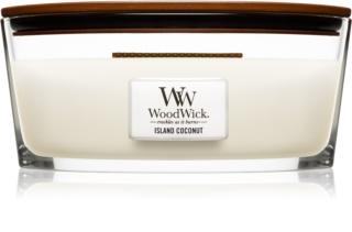 Woodwick Island Coconut candela profumata 453,6 g Hearthwick