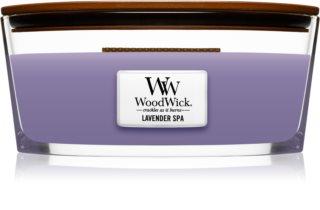 Woodwick Lavender Spa vela perfumada  453,6 g con mecha de madera (Hearthwick)