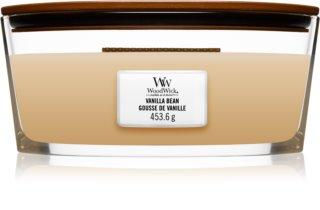 Woodwick Vanilla Bean vonná svíčka 453,6 g s dřevěným knotem (Hearthwick)