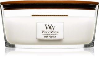 Woodwick Baby Powder duftkerze  mit holzdocht (hearthwick)