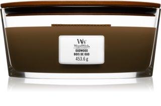 Woodwick Oudwood vela perfumada  453,6 g con mecha de madera (Hearthwick)