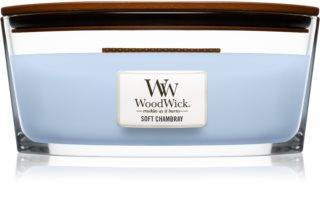 Woodwick Soft Chambray Αρωματικό κερί 453,6 γρ Hearthwick