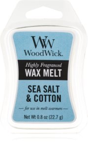 Woodwick Sea Salt & Cotton cera para lámparas aromáticas 22,7 g