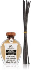 Woodwick Flamless Island Coconut aroma difuzor s polnilom