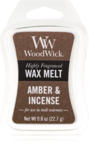 Woodwick Amber & Incense duftwachs für aromalampe