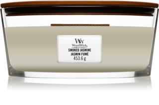 Woodwick Smoked Jasmine vela perfumada com pavio de madeira (hearthwick)