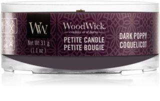 Woodwick Dark Poppy viaszos gyertya fa kanóccal 31 g