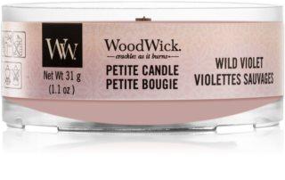 Woodwick Wild Violet lumânare votiv cu fitil din lemn