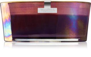 Woodwick Floral Night Dark Poppy vela perfumada com pavio de madeira (hearthwick)