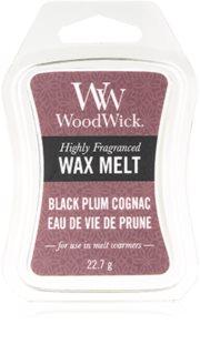 Woodwick Black Plum cera derretida aromatizante