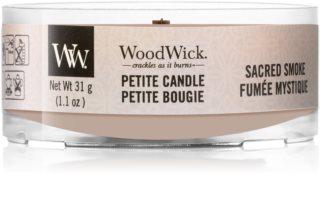 Woodwick Sacred Smoke świeca do świecznika  z drewnianym knotem