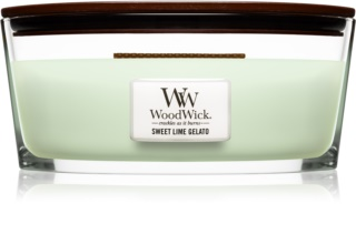 Woodwick Sweet Lime Gelato Scented Candle 453,6 g Wooden Wick (Hearthwick)