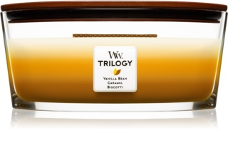 Woodwick Trilogy Café Sweets scented candle wooden wick (hearthwick)