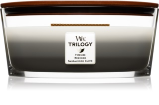 Woodwick Trilogy Warm Woods Scented Candle 453,6 g Wooden Wick (Hearthwick)