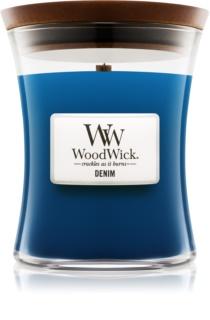 Woodwick Denim illatos gyertya  275 g közepes