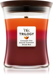 Woodwick Trilogy Exotic Spices  vonná sviečka 275 g stredná
