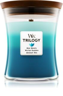 Woodwick Trilogy Gentle Rain świeczka zapachowa  275 g średnia