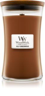 Woodwick Jolly Gingerbread vonná svíčka 609,5 g velká