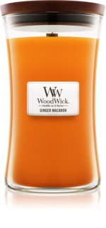 Woodwick Ginger Macaron Αρωματικό κερί 609,5 γρ μεγάλη