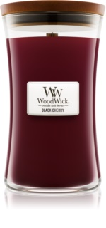 Woodwick Black Cherry bougie parfumée 609,5 g grande