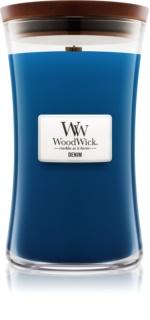 Woodwick Denim bougie parfumée 609,5 g grande