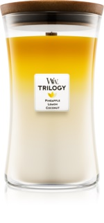 Woodwick Trilogy Fruits of Summer lumânare parfumată  609,5 g mare