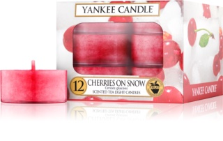 Yankee Candle Cherries on Snow čajová svíčka 12 x 9,8 g