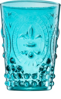 Yankee Candle Old Havana glass votive candle holder III Blue