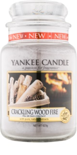 Yankee Candle Crackling Wood Fire Geurkaars 623 gr Classic Large