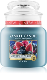 Yankee Candle Mulberry & Fig Αρωματικό κερί 411 γρ Κλασικό μέτριο
