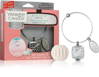 Yankee Candle Pink Sands parfum pentru masina + refill pandantiv (Square)
