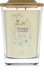 Yankee Candle Elevation Sheer Linen vela perfumado 552 g grande