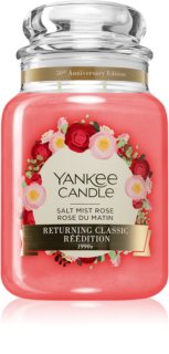 Yankee Candle Salt Mist Rose vela perfumada Classic grande