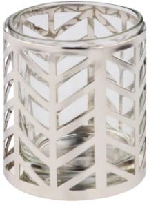 Yankee Candle Arrow Chrome Стъклен свещник за вотивна свещ