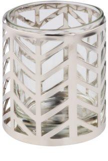 Yankee Candle Arrow Chrome Skleněný svícen na votivní svíčku