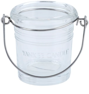 Yankee Candle Glass Bucket glass votive candle holder I. Clear glass
