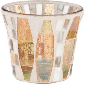 Yankee Candle Gold Wave Mosaic Skleněný svícen na votivní svíčku