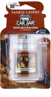 Yankee Candle Leather Car Air Freshener   hanging