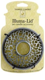Yankee Candle Matrix Brushed декоративне кільце   для ароматизованої свічки Classic велика та середня підставка (Silver)