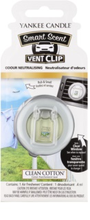 Yankee Candle Clean Cotton illat autóba 4 ml clip