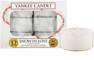 Yankee Candle Snow in Love čajová svíčka 12 x 9,8 g