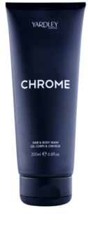 Yardley Chrome gel de ducha para hombre 200 ml