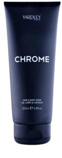 Yardley Chrome gel za prhanje za moške 200 ml