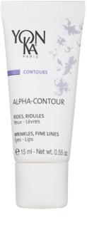 Yon-Ka Contours Alpha gel anti-rugas e regenerador para contorno dos olhos e lábios