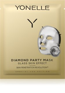 Yonelle Diamond Party Mask maska iz platna z vlažilnim in revitalizacijskim učinkom