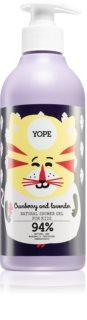 Yope Cranberry & Lavender інтенсивно зволожувальний гель для душу для дітей
