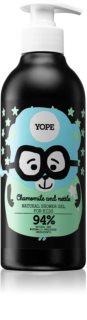 Yope Chamomile & Nettle gel de duche de limpeza para crianças