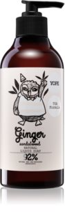 Yope Ginger & Sandalwood Natural Liquid Hand Soap with Smoothing Effect
