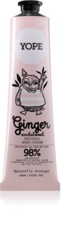 Yope Ginger & Sandalwood Natural Hand Cream with Nourishing and Moisturizing Effect